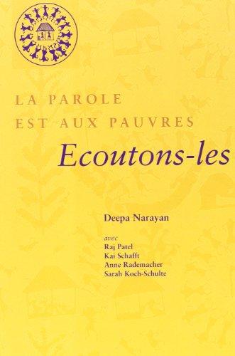 Parole est aux pauvres (French Edition): Deepa Narayan
