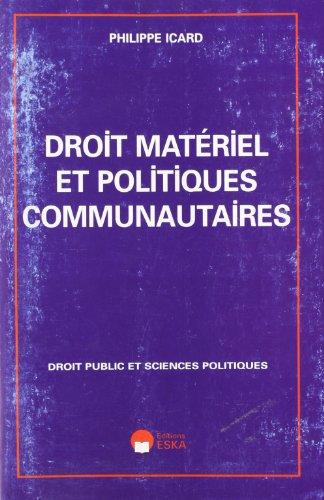 Droit materiel politiques communautaire: Icard