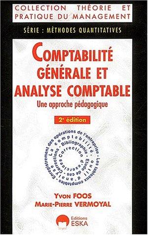 comptabilite generale analyse comptable: Foos /Vermoyal