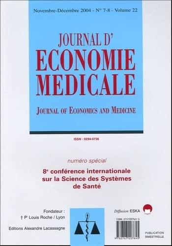 sciences des systemes de sante 8e conf.