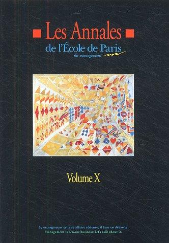 les annales de l'ecole de paris volume x: Francis Ampe