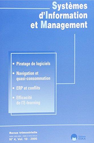 """systèmes d'information et management n.4 volume 10 ; piratage de logiciels, ..."