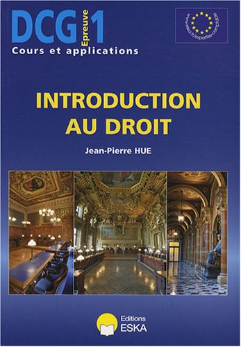 """DCG 1 ; introduction au droit"": Jean-Pierre Hue"