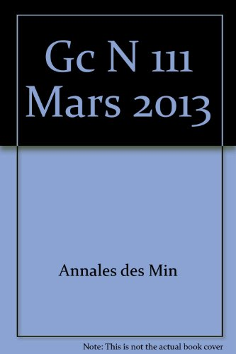 Gc n 111 mars 2013: Annales Des Min