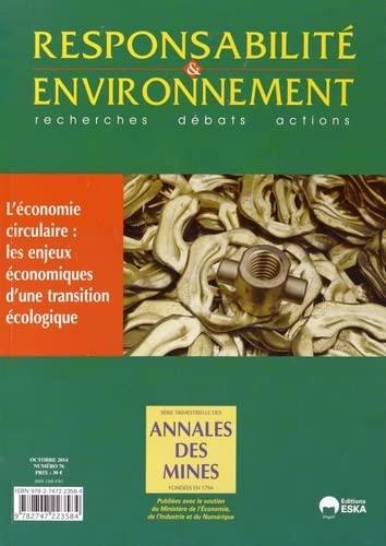Responsabilité & environnement, N° 76, Octobre 2014 : L'économie ...