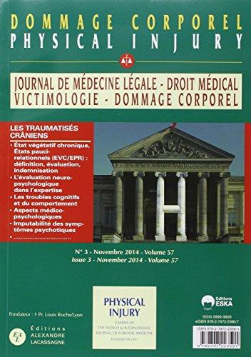 Journal de médecine légale : Dommage corporel : N° 5-6/volume 57, octobre ...