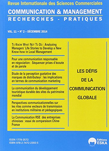 Communication et management : N° 2, Volume 11/2014