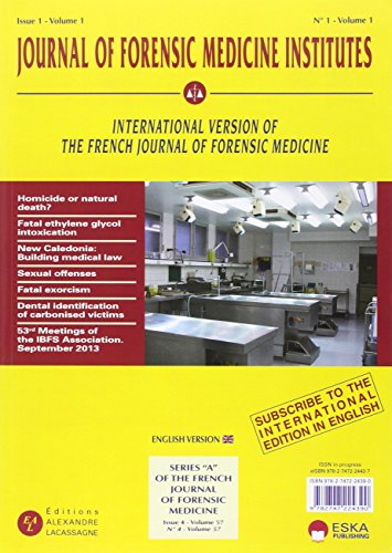 9782747224390: Journal of forensis medicine institutes : Issue 1, Volume 1/2015