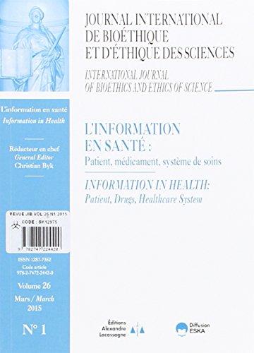 Revue jib 1 2015 : l'information en santé: Collectif