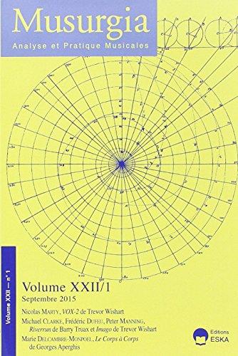 9782747224802: Revue Musurgia N1 Vol Xxii 2015