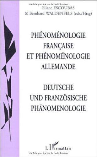 9782747500937: Phénoménologie Française Etphenomenologie Allemande