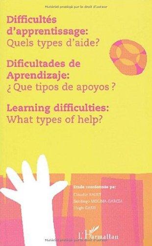 Difficultés d'apprentissage : quels types d'aide ?: Santiago Molina Garcia;