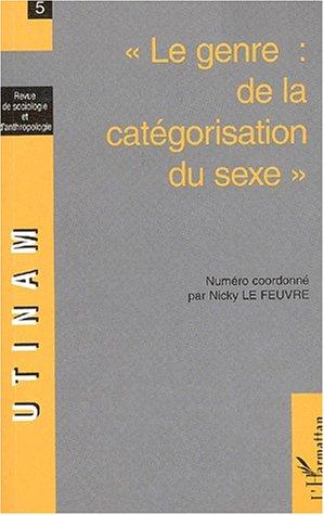 9782747529167: UTINAM N° 5/2001-2002 : Le genre : de la catégorisation du sexe