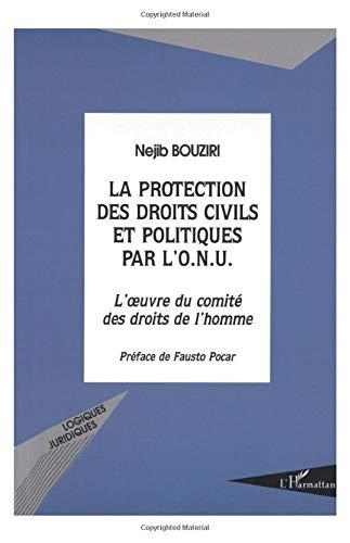 La protection des droits civils et politiques par l'ONU : L'oeuvre du comité .: ...