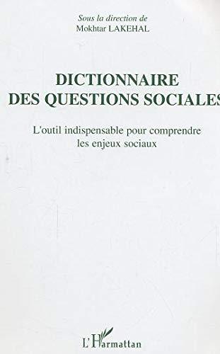 9782747584609: Dictionnaire des questions sociales : L'outil indispensable pour comprendre les enjeux sociaux