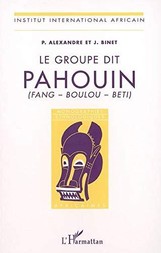 9782747586184: Groupe Dit Pahouin (Fang-Boulou-Beti)