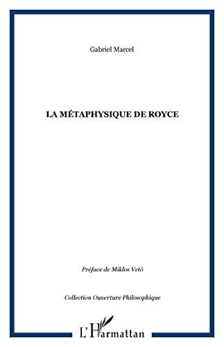9782747588379: metaphysique de royce