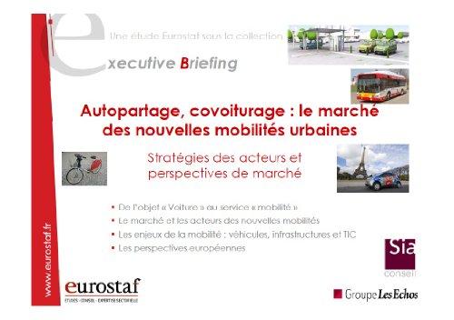 9782748406863: Autopartage, covoiturage : le marché des nouvelles mobilités urbaines