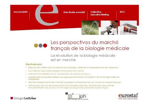 9782748406962: Les perspectives du march� fran�ais de la biologie m�dicale