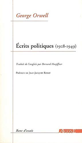 9782748900842: Ecrits politiques (1928-1949) : Sur le socialisme, les intellectuels et la démocratie