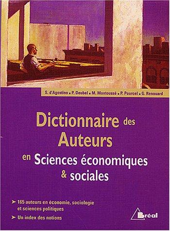 9782749501178: Dictionnaire des auteurs en Sciences économiques & sociales