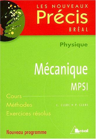 9782749502229: Mécanique MPSI