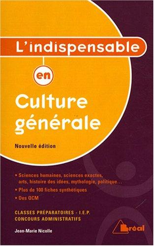 9782749506272: L'indispensable en culture g�n�rale