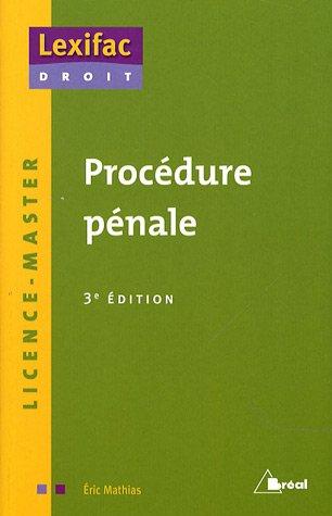 9782749507866: Proc�dure p�nale
