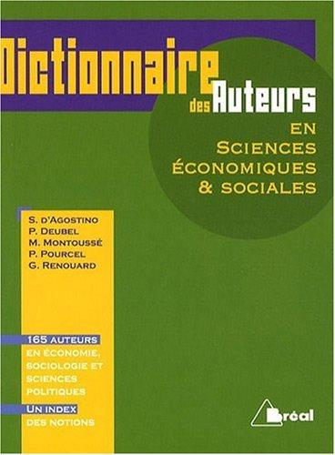 9782749508580: Dictionnaire des auteurs en sciences économiques & sociales