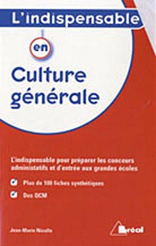 9782749509372: L'indispensable en culture générale