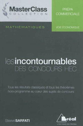 9782749509563: Math�matiques Les incontournables des concours HEC (voie �conomique)