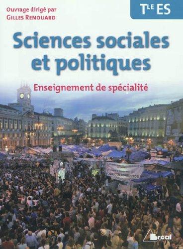 9782749531144: Sciences sociales et politiques Tle ES Enseignement de sp�cialit�