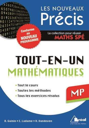 9782749533070: Maths MP - Conforme au programme 2014 - Pr�cis tout-en-un - Cours - M�thode - Exercices