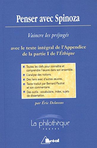 9782749533926: Penser avec Spinoza : vaincre les pr�jug�s