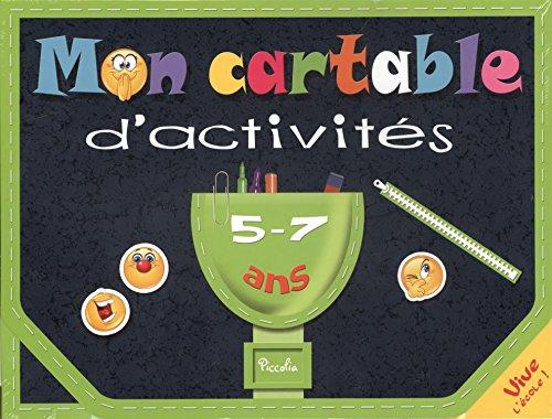 9782753028326: Mon cartable d'activit�s 5-7ans : Je m'amuse avec les lettres et les mots ; Le calcul en s'amusant ! : Avec 3 planches d'autocollants, 1 set �ducatif ... effa�ables, 1 feutre effa�able et 1 �ponge