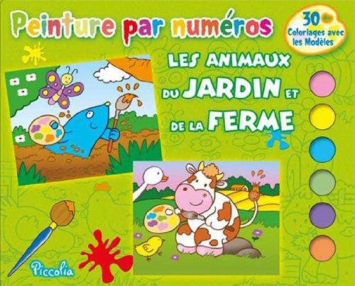 9782753028982: Les animaux du jardin et de la ferme : 30 coloriages avec les mod�les