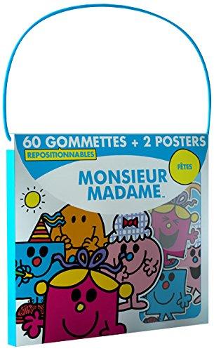 9782753209541: Monsieur Madame Fête : 60 gommettes repositionnables + 2 posters