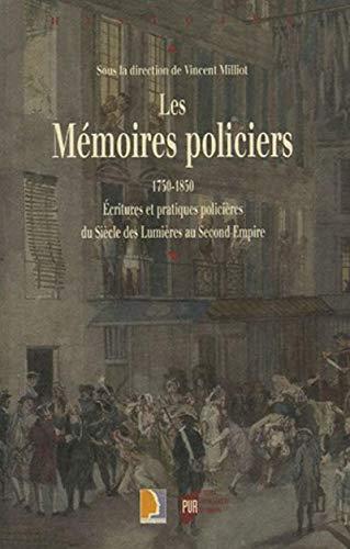 9782753502635: MEMOIRES POLICIERS 1750-1850