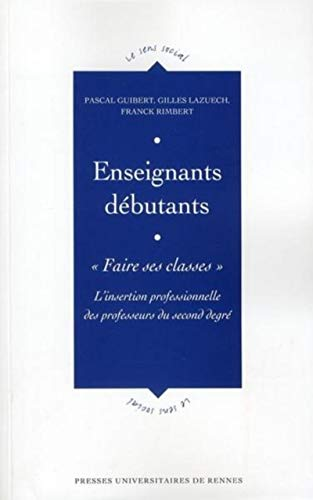 Enseignants debutants Faire ses classes: Guibert Pascal