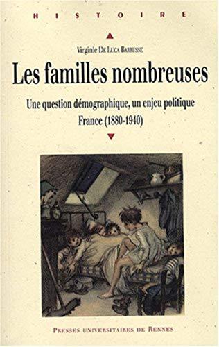 Les familles nombreuses en France : une question démographique, un enjeu politique : France ...