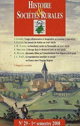 Histoire & sociétés rurales, n° 29