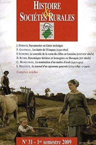 Histoire et societes rurales No 31 2009: Collectif