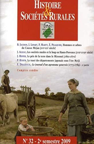 Histoire et sociétés rurales 32 (French Edition): Collectif