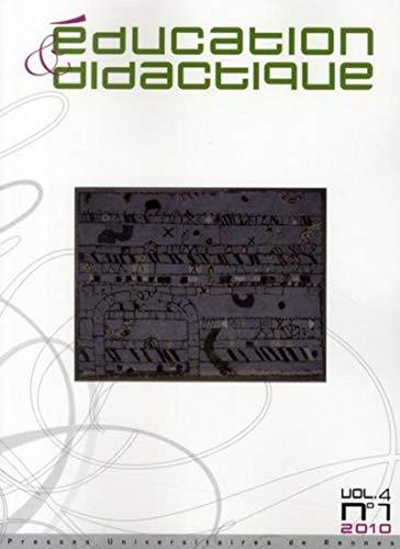 education et didactique vol 4/1: G�rard Sensevy