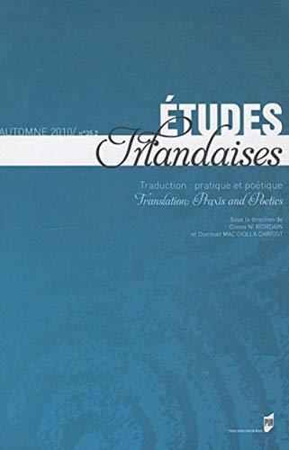Etudes irlandaises No 35-2 Traduction Paratique et poetique: Ni Riordain Cliona