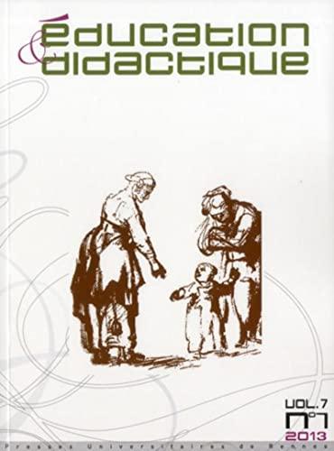 Education et dialectique Vol 7 No 1 2013: Collectif