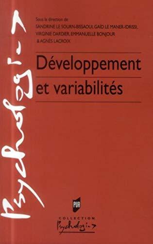 9782753527638: Développement et variabilités