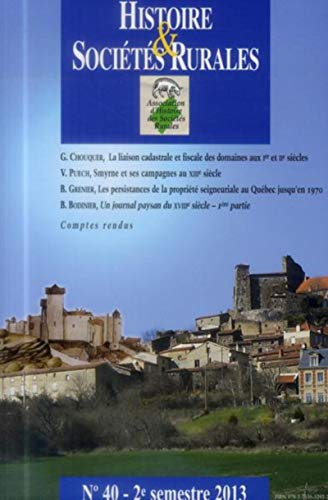 Histoire et societes rurales No 40: Collectif