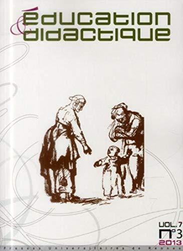 Education et didactique 7 3: Collectif