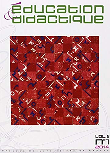 Education et didactique No 8-1 Didactiques didactique D'une po: Ligozat Florence